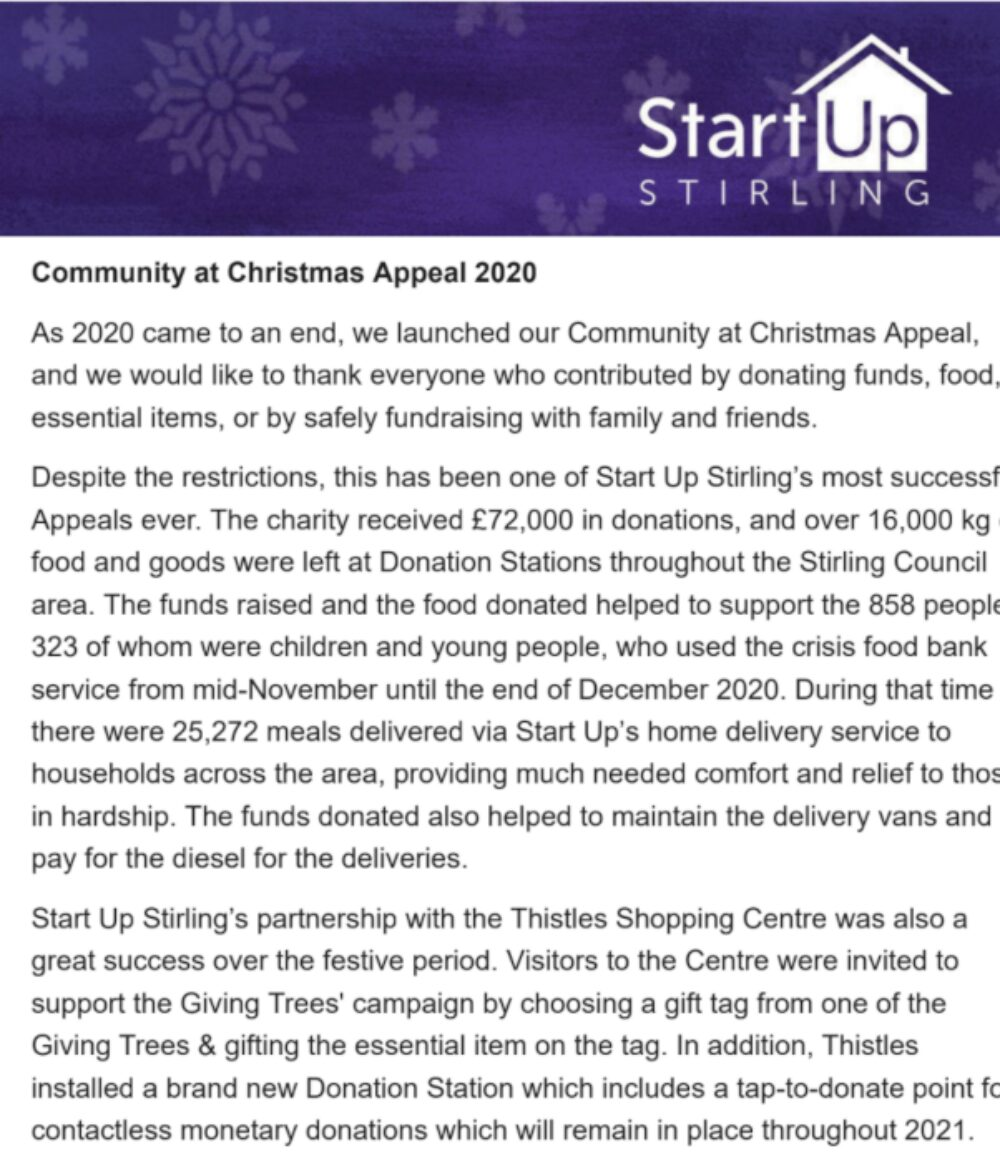 Community at Christmas Appeal - Thank you